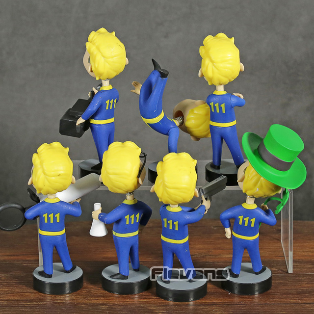 Fallout 4 Vault Boy Bobble Head Doll PVC Action Figure Collectible Model Toy for Car Decoration