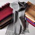 Marca de lujo Mujer Bufanda bufandas 2016 Mujeres de alta Calidad Pashmina Borlas de la Bufanda De Lana De Cachemira Mujeres Abrigo el 200*65 cm color sólido