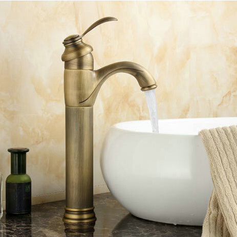 Bathroom Basin Mixer Taps Antique Brass Finished Hot and Cold Deck Mounted with ceramic torneiras para