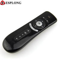 Gyroscope Mini Fly Air Mouse T2 2.4G Wireless Keyboard Android remote control 3D Sense Motion Stick For Smart TV Box i68 m8s mx