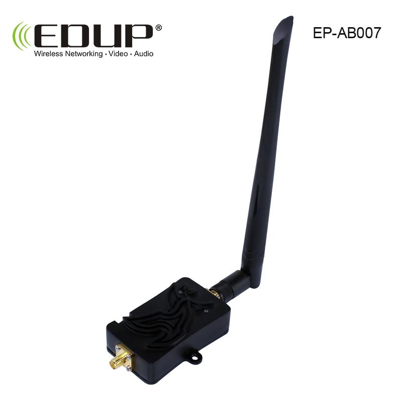 EDUP 4W 2.4GHz wifi Power Booster Wifi Wireless Signal Amplifier Range Extender with 6dBi Antenna TDD free shipping argtek 6dbi 2 wifi signal range extender antenna signal booster kit for yuneec typhoon h quadcopter