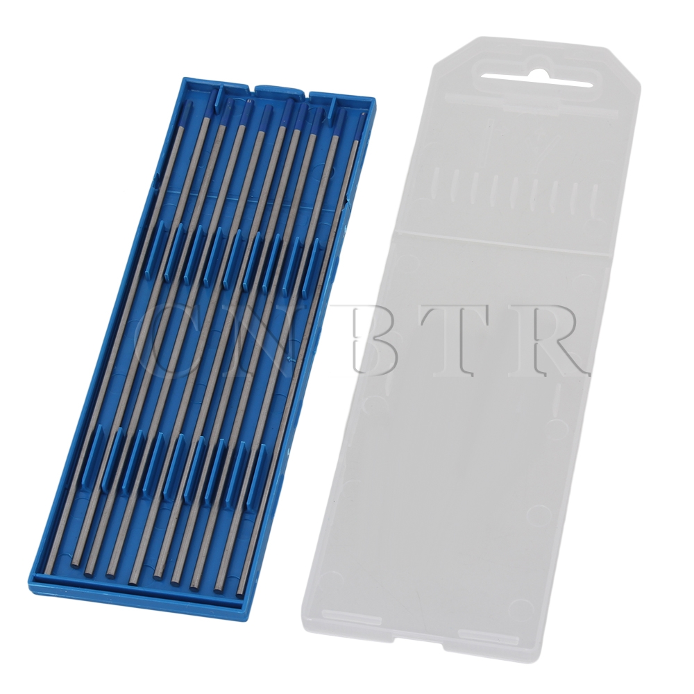 CNBTR 2% Lanthanated 2.4 x 150mm 332 x 6 WL20 Blue TIG Welding Tungsten Electrode Pack of 10