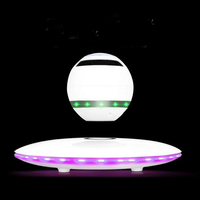 Magnetic Levitation Bluetooth Audio Wireless Speaker 7 Colour Dazzle Light LED Lights