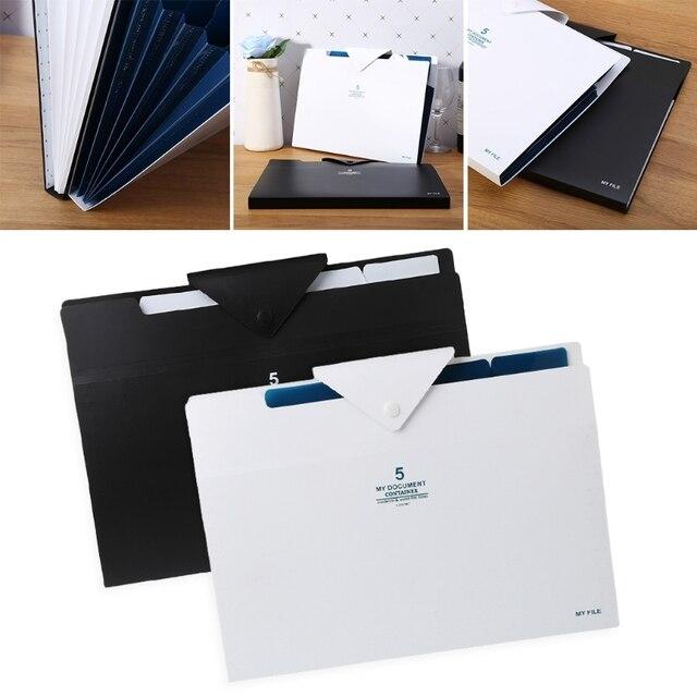 Sac de Document à 5 couches en expansion dossier organisateur de dossier pour Documents papier A4