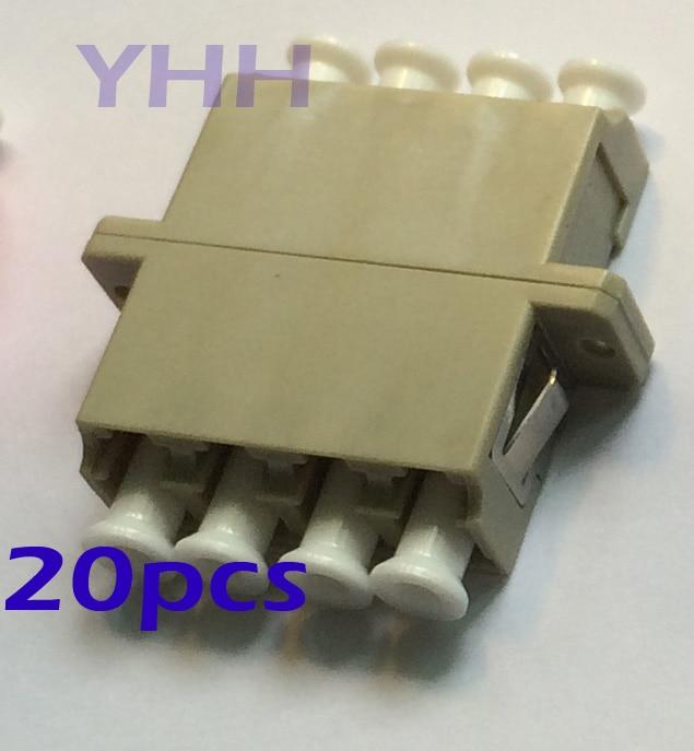 50pcs LC-Quad-with Flange-Grey /Optic Fiber Adapter