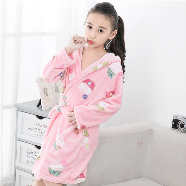 3f38363fc Boys Flannel Pyjama Girls Winter Nightwear Robes Kids Clothes Night ...
