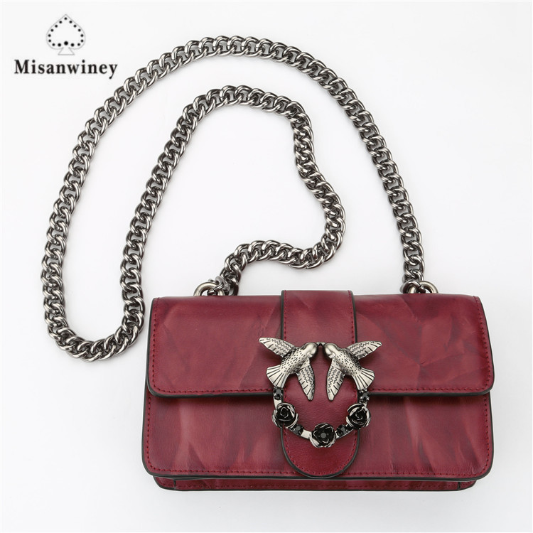 цены Women Chain Leather Fashion Shoulder Crossbody Bag Luxury Casual High Quality Handbags Clutches Designer Famous Brand Women Bags