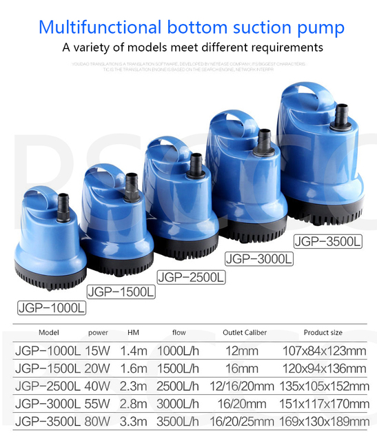 SUNSUN silent energy-saving submersible pump. 5