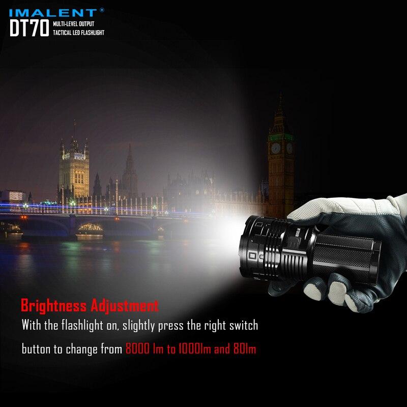 16000 ルーメン IMALENT DT70 USB 充電式 LED 戦術的な懐中電灯マルチレベル出力 & OLED ディスプレイ  グループ上の ライト & 照明 からの 懐中電灯 & トーチ の中 3
