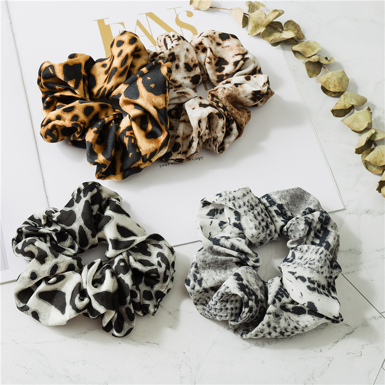 Girls pure color hair adorn New cross hair lady Fashion Rope headdress Flower Rubber Bands Small Adorn Article A bag of four in Women 39 s Hair Accessories from Apparel Accessories
