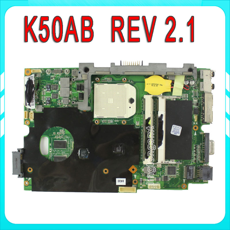 Original for ASUS K50AB laptop motherboard K40AB K40AD K40AF K50AB K50AD K50AF mainboard 100% test asus p5kpl se desktop motherboard p31 socket lga for 775 core pentium celeron ddr2 4g atx uefi bios original used mainboard