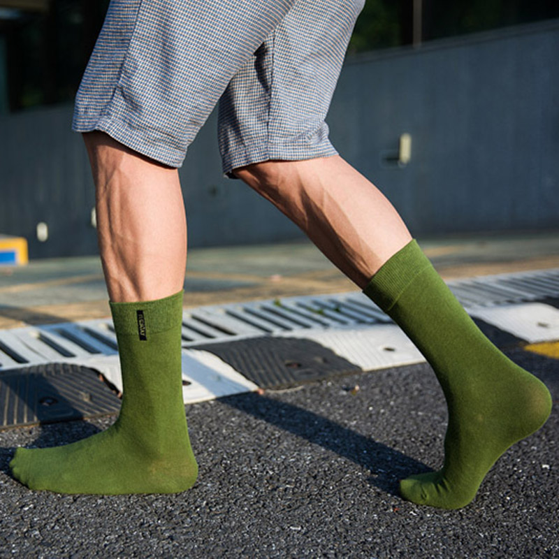 Men/'s Cotton Socks Solid Color British style Business Casual weekly Socks