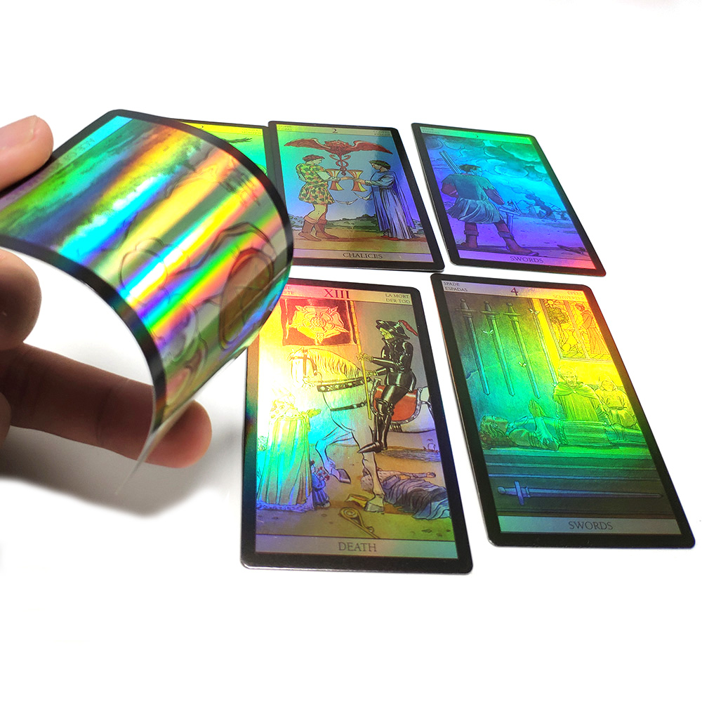 English Spanish French German version Shine Waite tarot cards Holographic divination board Game cards game for women