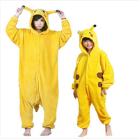 Pokemon Pyjamas Kids Onesie Cosplay Cartoon Girls Pajamas Flannel Boys Sleepwear Adult Adolescent Children S Pajamas