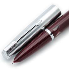 Wing Sung 601 стали колпачок вакуумная авторучка F Перо Популярные чернила ручка