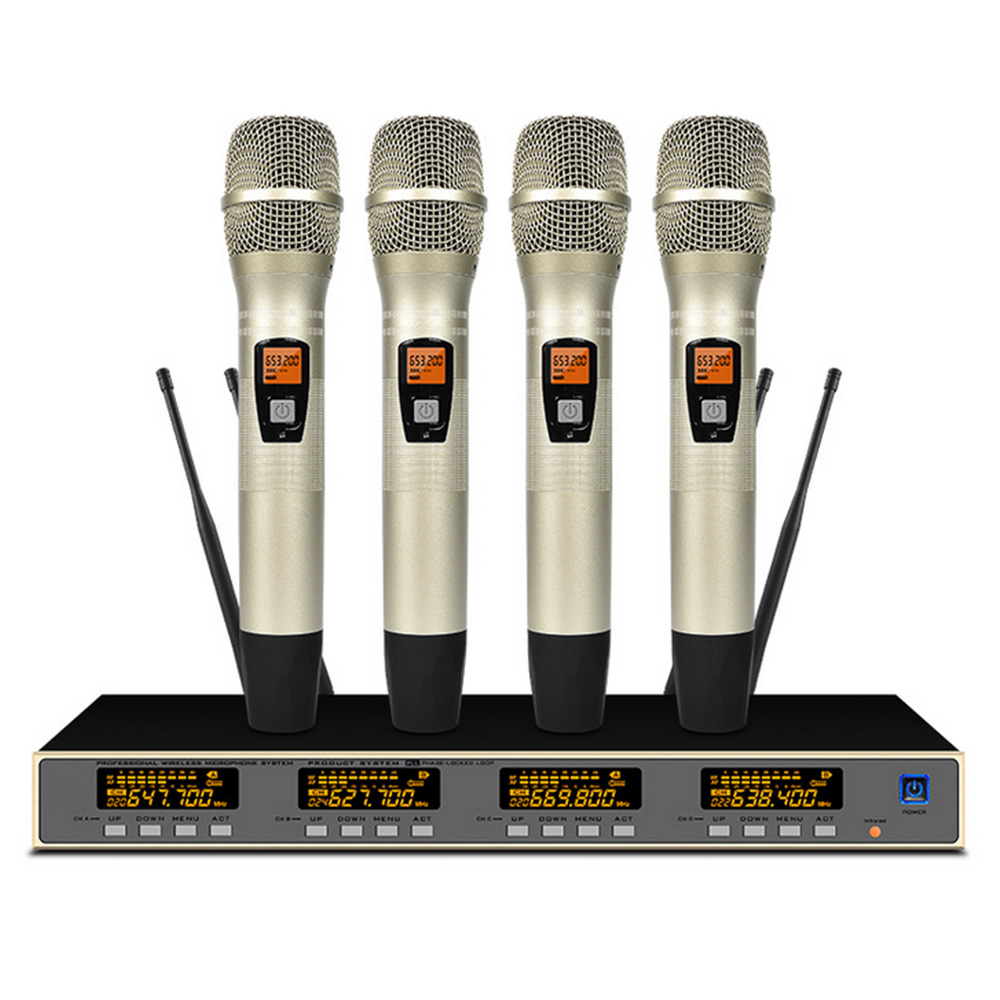 Professional UHF Wireless Microphone Conference Room / Family KTV / Karaoke MicrophoneProfessional UHF Wireless Microphone Conference Room / Family KTV / Karaoke Microphone