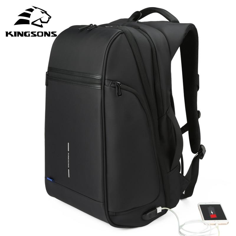Kingsons Man Backpack Fit 15 17 inch Laptop USB Recharging Multi-layer Space Travel Male Bag Anti-thief MochilaKingsons Man Backpack Fit 15 17 inch Laptop USB Recharging Multi-layer Space Travel Male Bag Anti-thief Mochila