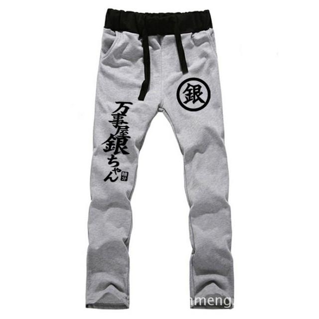 Anime Silver Soul AMANTES de algodón puro pantalones casual pantalones de los hombres de la moda