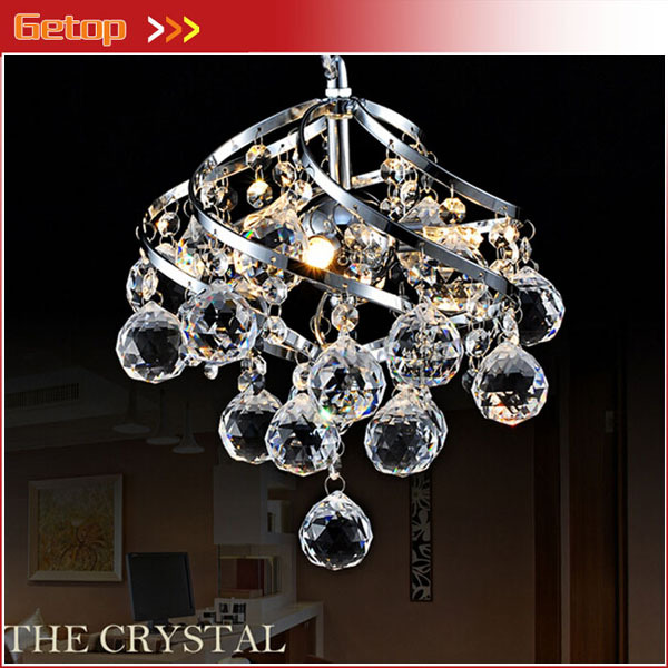 Best Modern Led Crystal Chandelier Lamp Single Head Lamps Stair Entranceway Lighting Study Restaurant Bar D26cm In Chandeliers From Lights