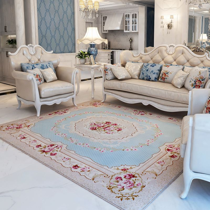 130X190CM Pastoral Big Carpet For Living Room Modern Brief Bedroom Bedside Rugs And Carpets Sofa Coffee