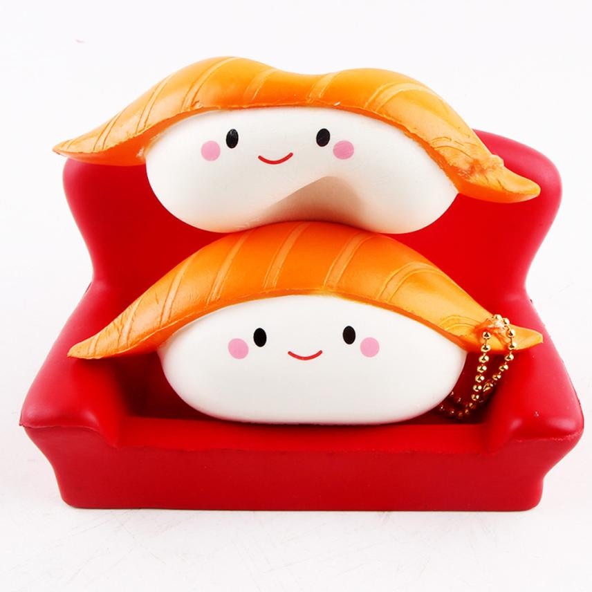 2018 Sushi Scented Squeeze Slow Rising Fun Toy Relieve Stress Cure Gift Squishy Stress Relief Toy Funny Kids Gift