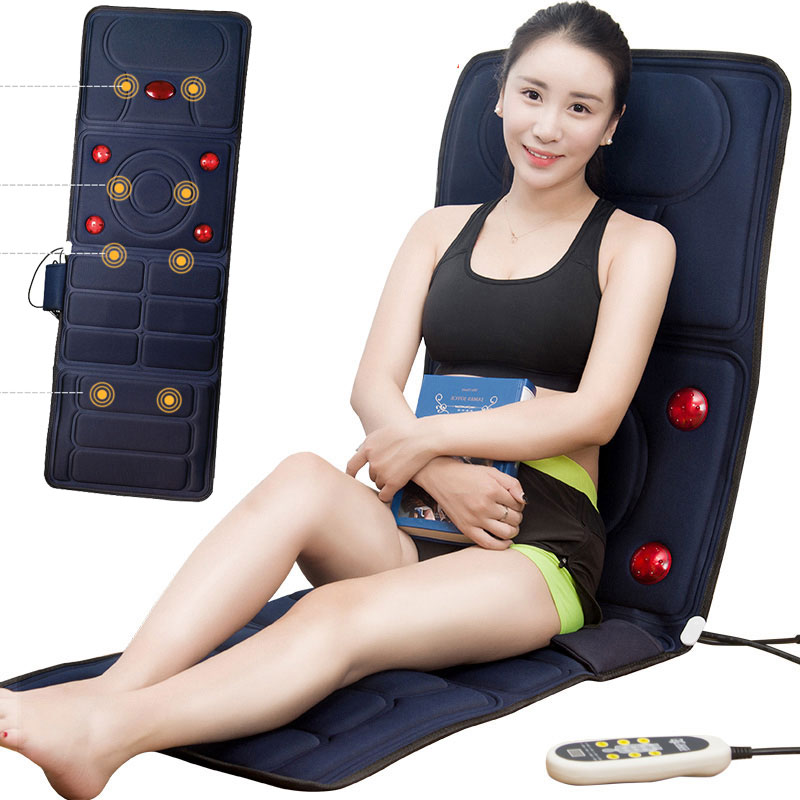 Multifunctional Cervical Vertebra Massager Full Body Neck Waist Shoulder Back Massage Magnetic Vibration Bed Mattress Cushion far infrared multifunctional heating massage mattress neck waist full body vibration cushion massager electric massage cushions