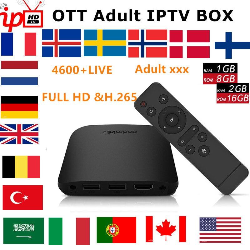 Francuski IPTV box Mecool M8S PLUS W android TV box 7.1 + subskrypcja IPTV szwecja belgia wielka brytania hiszpania stany zjednoczone M3U dla dorosłych xxx inteligentny tv box w Dekodery STB od Elektronika użytkowa na AliExpress - 11.11_Double 11Singles' Day 1