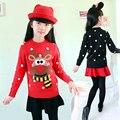 2016 Nova moda inverno malha camisolas cardigan meninas bonito Crianças Outono Cardigan camisola Para Crianças O-pescoço Blusas Pullover