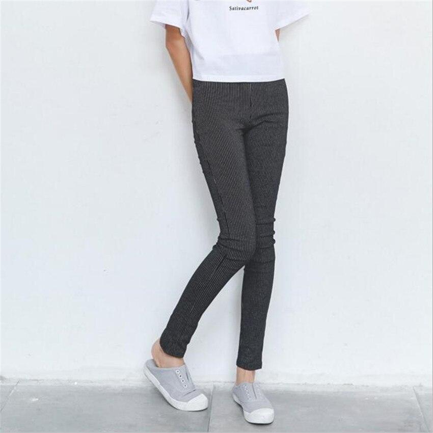 Mlcriyg новый небольшой Облегающие штаны британский стиль в полоску узкие брюки