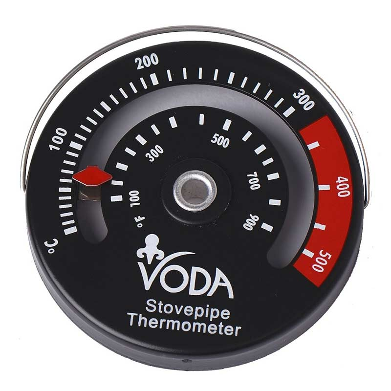 VODA Stove Tube Thermometer With Magnet And Screw Safe And Efficient Clear Thermometer