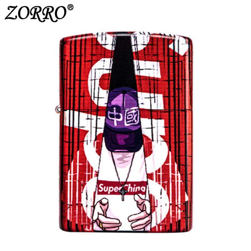 zorr lighter Gasoline Lighter Kerosene Oil Petrol Lighter Refillable Cigarette Metal Retro Men Gadgets Bar Lighters