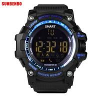 EX16 Sport Bluetooth Smart Watch Xwatch 5ATM IP67 Waterproof Smartwatch Pedometer Stopwatch Alarm Clock LONG TIME