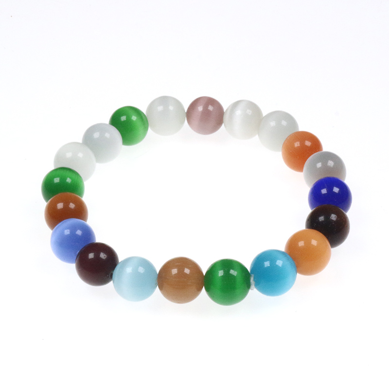 8MM Cat Eye 7 Chakra Bracelets Round Natural Stone Healing Bead Yoga Energy Bracelet for Women Friendship Pulsera Jewelry