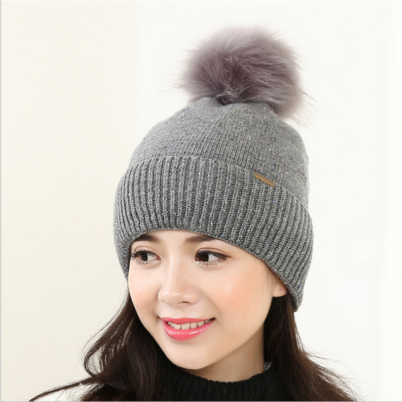 Autumn Winter Beanies Hats For Women Knitted Skullies Warm Casual Caps Female casquette Pompom gorros mujer invierno Faux Fur rosicil skullies beanies winter hats for women letter beanies women hip hot caps skullies girls gorros women beanies female