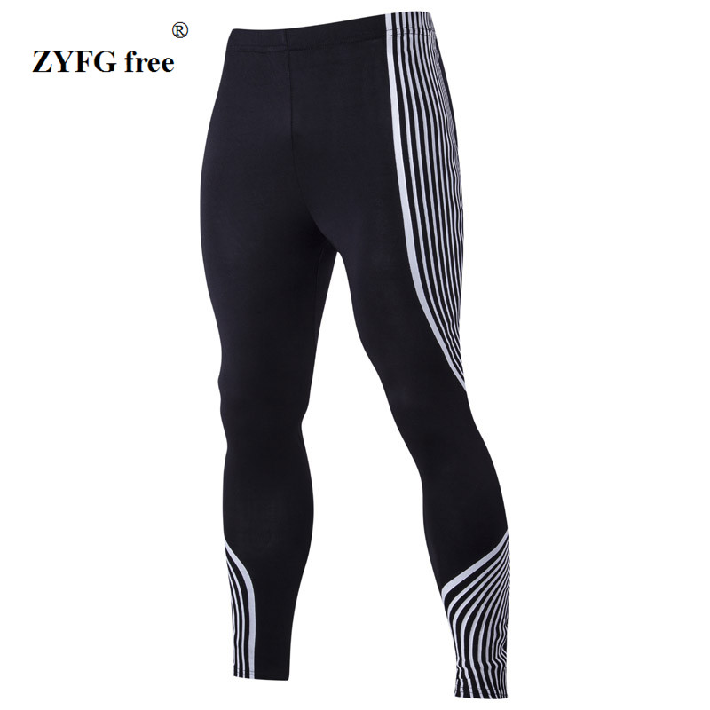 Pants Men 2017 New Men Compression Pants Brand Clothing Base Layer Tights Exercise Fitness Long Pants Trousers Leisure Pants Men