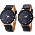 Venta caliente Fabulous Luxury Dial Banda de Cuero Reloj Militar Del Deporte Del Cuarzo de Acero Inoxidable de Los Hombres