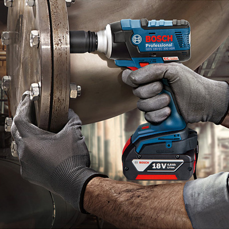 Bosch GDS 18V-EC 300ABR Impact Wrench 18V Lithium Battery Rechargeable Electric Wrench Brushless Impact Wrench