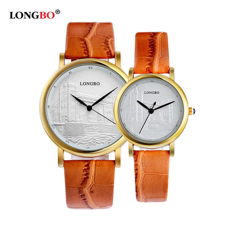 2016 Longbo Роскошные Кварцевые часы Повседневное модные кожаные часы Для  мужчин Для женщин Пара часы спортивные 494f0ff36db