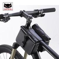 Cateye ciclismo quadro saco da bicicleta bicicleta totalmente à prova dwaterproof água tubo superior saco de alta capacidade qualidade almofada da bicicleta ferramenta kit