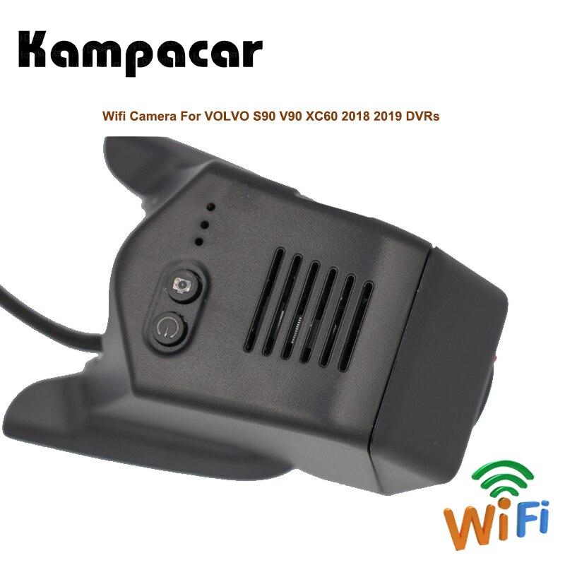 Kampacar Voiture Dvr Wifi Registrator Dash Cam Vidéo Caméra de Recul Pour Volvo S90 V90 XC60 T4 T5 T6 2018 2019 deux Voiture Enregistreur Dvr