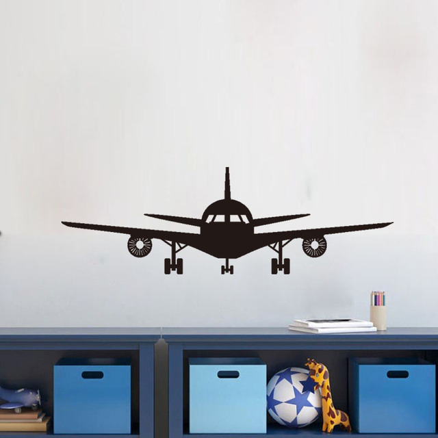 Airplane Wall Decals Children Bedroom Decoration Transfer Film Wall Stickers  Home Decor Vinyl Art Mural