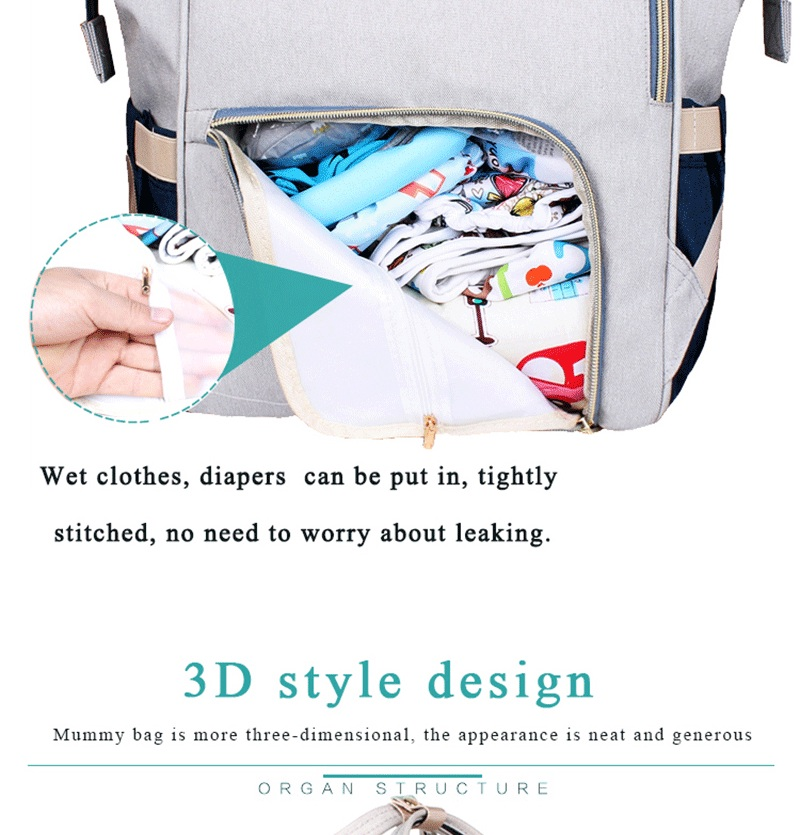 Large Capacity Mommy Maternity Bag Diaper Nappy Bag Bolsa Maternida Printed Bebe Bag Travel Backpack Desiger Nursing Baby Care