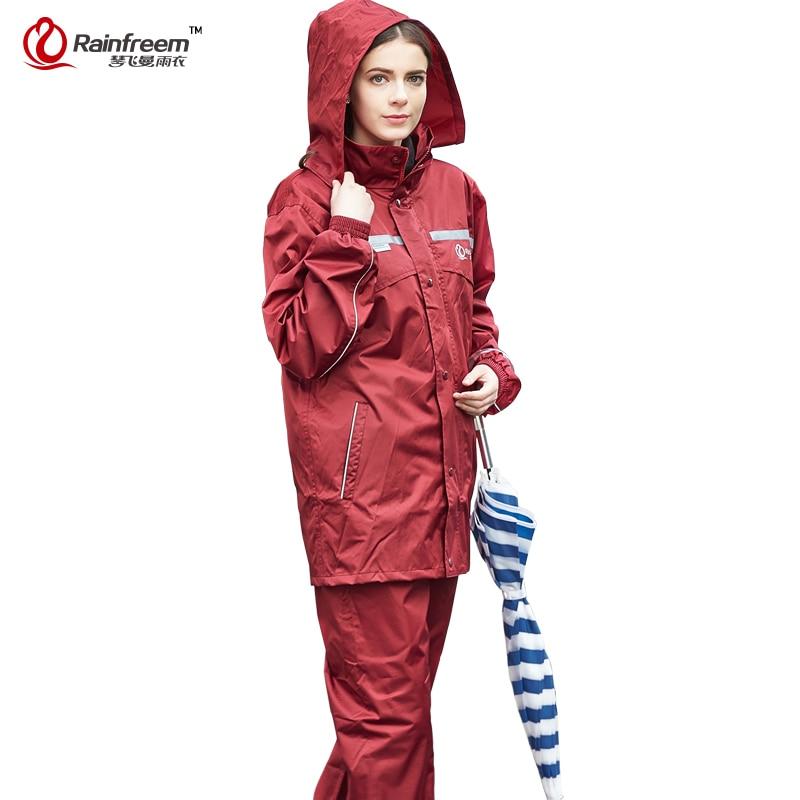 Rainfreem Impermeable Raincoat Kvinder / Herre Hood Rain Poncho - Husholdningsvarer - Foto 4