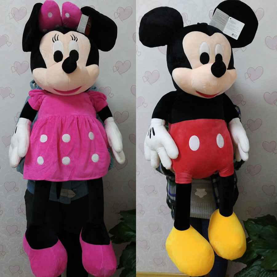 100cm=39.3'' Large Mickey And Minnie Stuffed Animal Soft Ddoll,Giant Mickey Mouse Plush Toys For Christmas&birthday Gifts