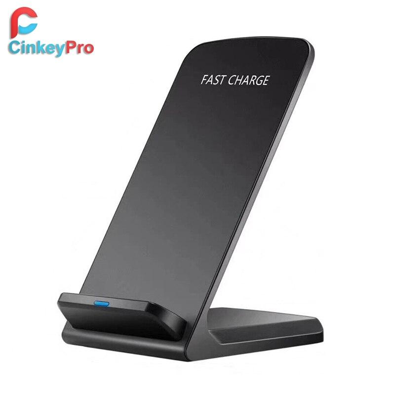 CinkeyPro QI WIRELESS-LADEGERÄT Quick Charge 2,0 Schnellladung für iPhone 8 10 X Samsung S6 S7 S8 2-Coils Stehen 5 V/2A & 9 V/1.67A