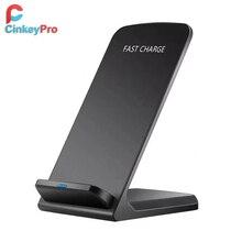 CinkeyPro QI kablosuz şarj cihazı hızlı şarj 2.0 hızlı şarj iPhone 8 10 X Samsung S6 S7 S8 2 bobinler standı 5V/2A ve 9V/1.67A