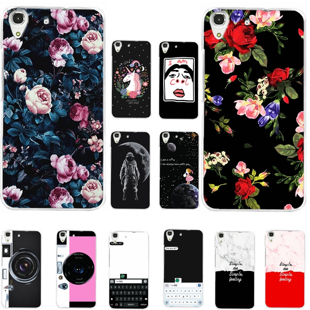 Lovers Vintage Flowers Tropical Style Phone Case For HUAWEI Y6II Y6 II Y6 2 Back Cover Soft TPU Silicone For Huawei Y6 II 5.5