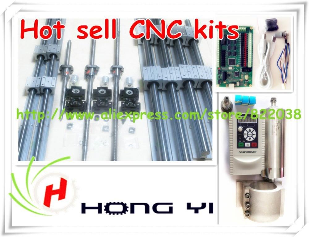 HGR25 линейная Руководство + dfu1605 ШВП двойной орехи + 0.8kw шпинделя Двигатель + Servo Двигатель 90st-m02430 +