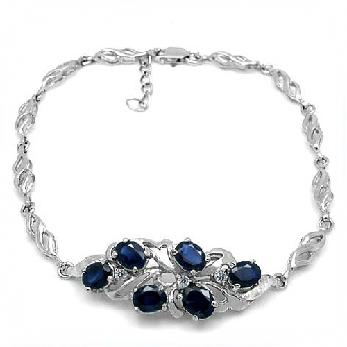 2017 New Qi Xuan_Free Mail Dark Blue Stone Flower Bracelets_S925 Solid Silver Fashion Bracelets_Manufacturer Directly Sales телефон мобильный alcatel onetouch 2008g