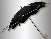 Lotus leaf umbrellas,100%sunscreen,UPF>50+,black coating,TAIWAN formosa taffeta,UV protecting,rotated fluorescent green piping